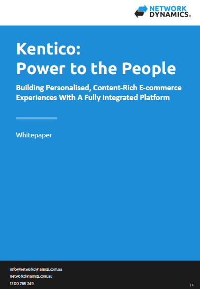Kentico Whitepaper
